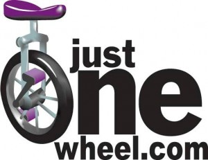 just one wheel logo